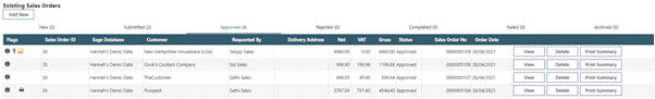 Sicon WAP Sales Order Help and User Guide - Sales Order HUG Section 19.4 Image 1
