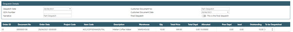 Sicon WAP Sales Order Help and User Guide - Sales Order HUG Section 23.1 Image 3