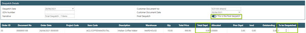 Sicon WAP Sales Order Help and User Guide - Sales Order HUG Section 23.2 Image 1