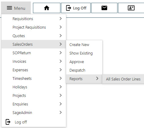 Sicon WAP Sales Order Help and User Guide - Sales Order HUG Section 26 Image 1