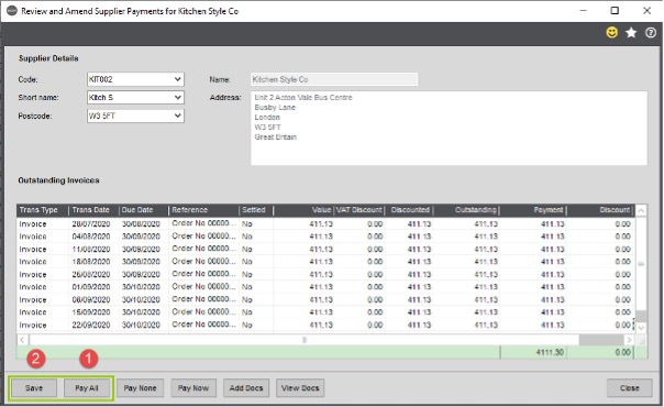 Sicon WAP Invoices Help & Users Guide Section 23.3 Image 3
