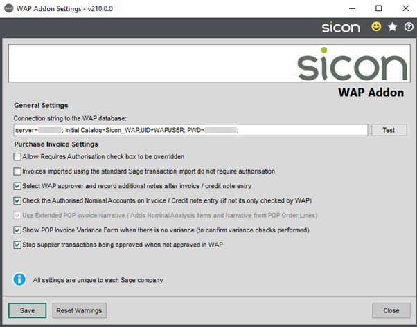 Sicon WAP Add-on Help and User Guide - WAP Addon HUG Section 2.3 Image 1