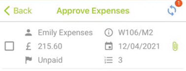 Sicon WAP Expenses Help and User Guide - WAP Expenses HUG Section 17.1 Image 5