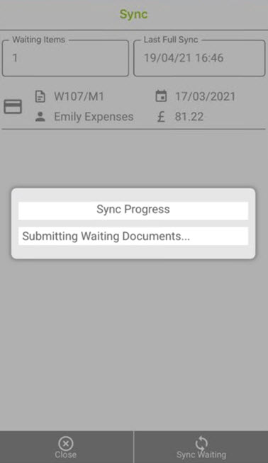 Sicon WAP Expenses Help and User Guide - WAP Expenses HUG Section 17.1 Image 7