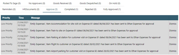 Sicon WAP Expenses Help and User Guide - WAP Expenses HUG Section 18.3 Image 1