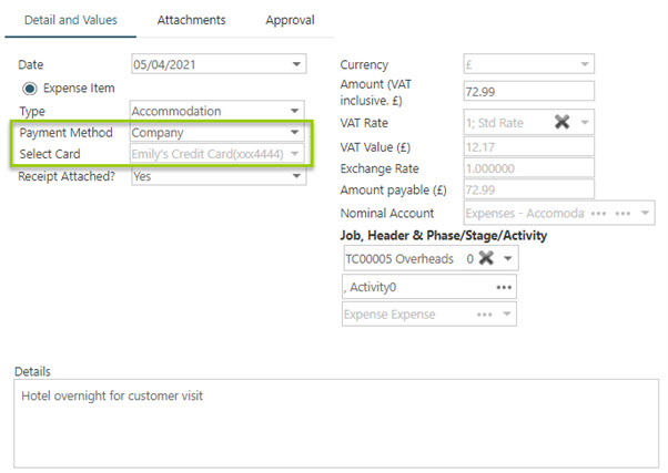 Sicon WAP Expenses Help and User Guide - WAP Expenses HUG Section 20.3 Image 1