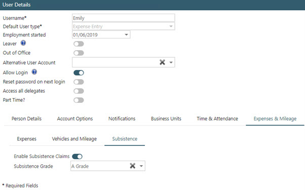 Sicon WAP Expenses Help and User Guide - WAP Expenses HUG Section 22.3 Image 1
