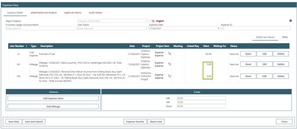 Sicon Contracts Help and User Guide - WAP Expenses HUG Section 26.5 Image 3