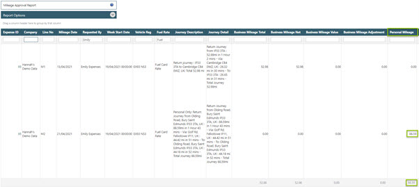 Sicon Contracts Help and User Guide - WAP Expenses HUG Section 26.6 Image 1