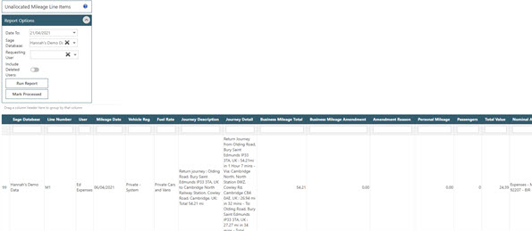 Sicon Contracts Help and User Guide - WAP Expenses HUG Section 27.4 Image 3