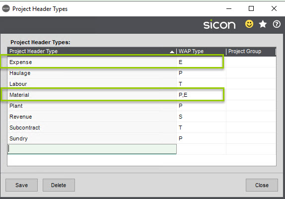 Sicon WAP Expenses Help and User Guide - WAP Expenses HUG Section 4.1 Image 2