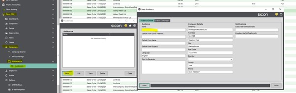 Sicon CRM Help and User Guide - 13.2a New Audience