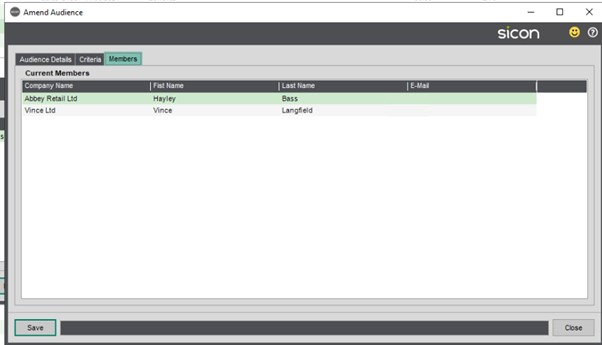 Sicon CRM Help and User Guide - 13.4a Members