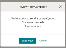 Sicon CRM Help and User Guide - 13.6c Mailchimp Send Email 2