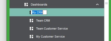 Sicon CRM Help and User Guide - 19.6b - Renaming of Dashboards