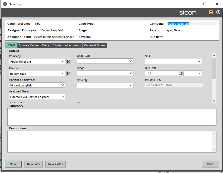 Sicon CRM Section 13.1 Image 1