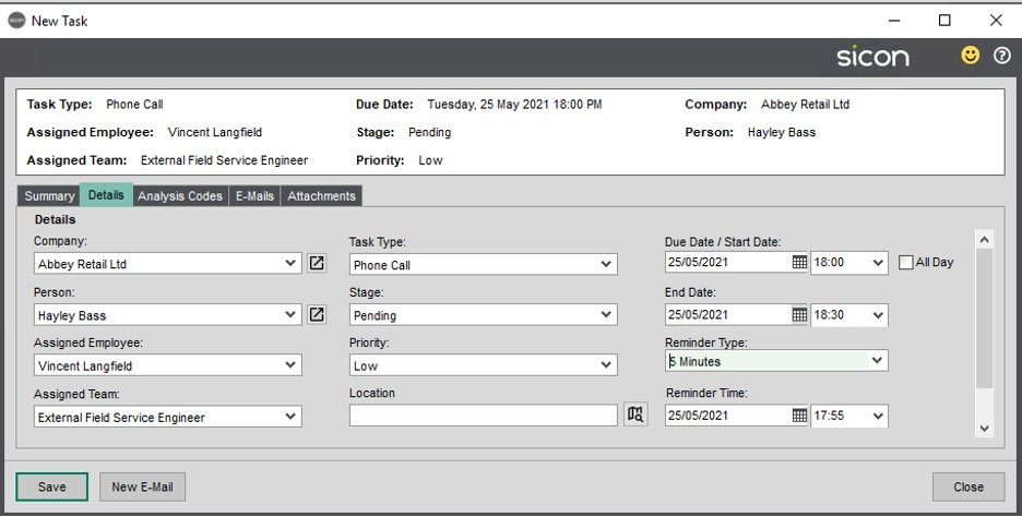 Sicon CRM Section 15.6 Image 1
