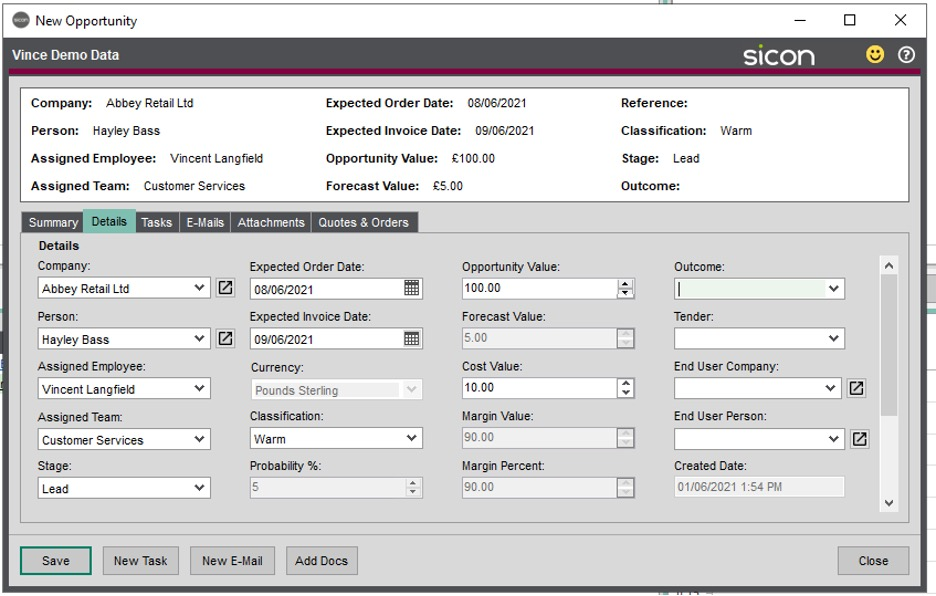 Sicon CRM Section 16.8 Image 1