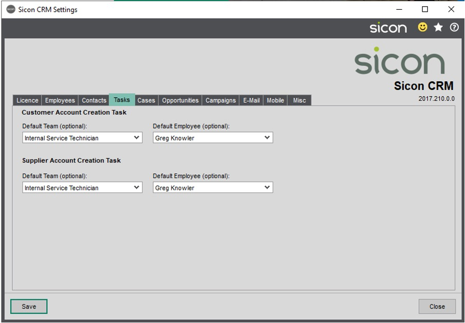 Sicon CRM Section 9.5 Image 1